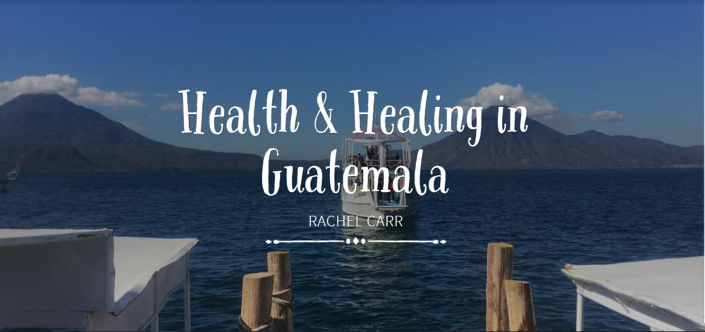 Beautiful Lake Atitlan in the background.