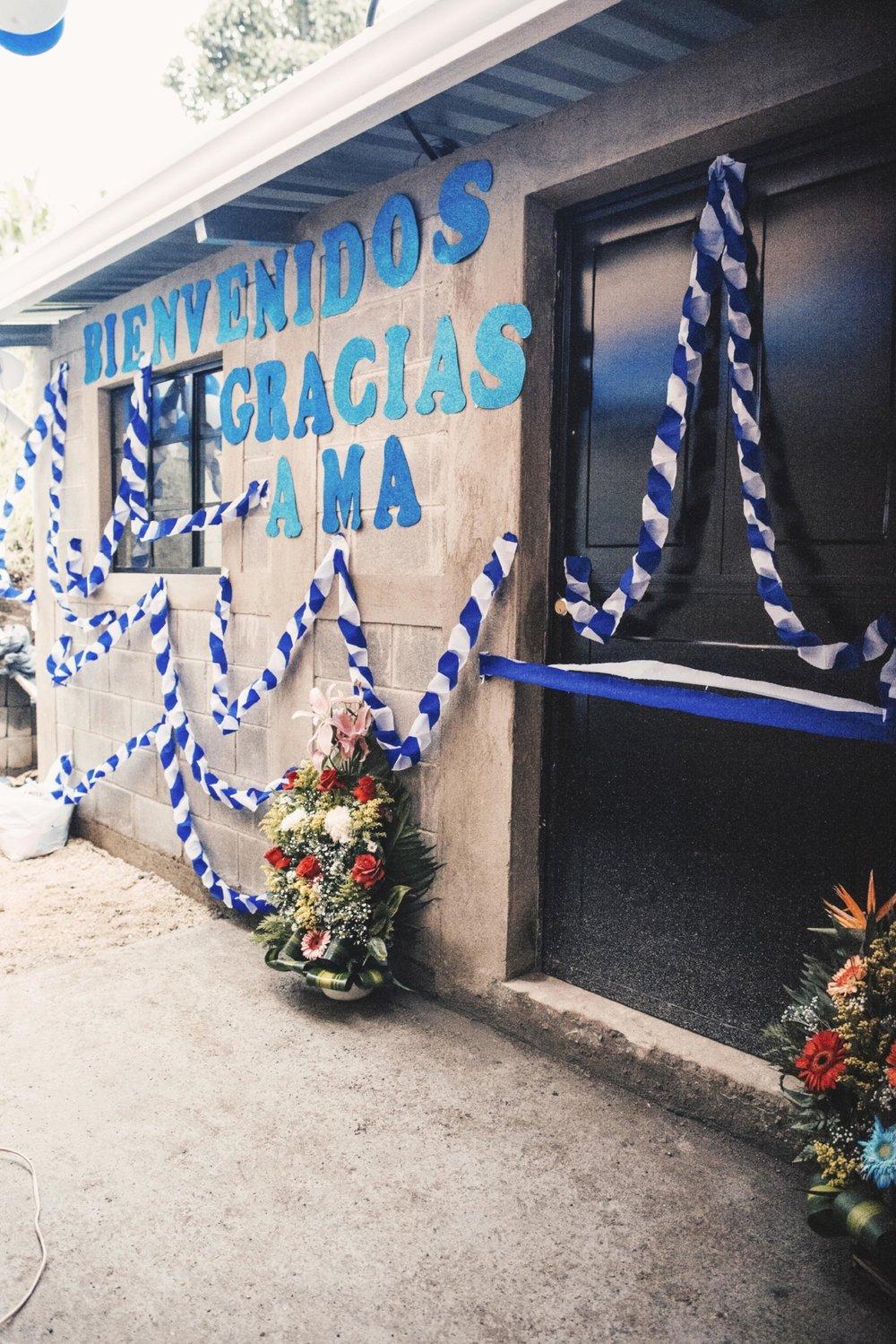 Ceremony at the rural school Las Lagunas Cuaches.
