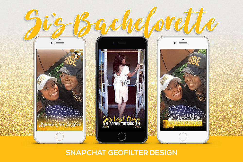 Snapchat Geofilter design for bachelorette weekend in Vegas 2017