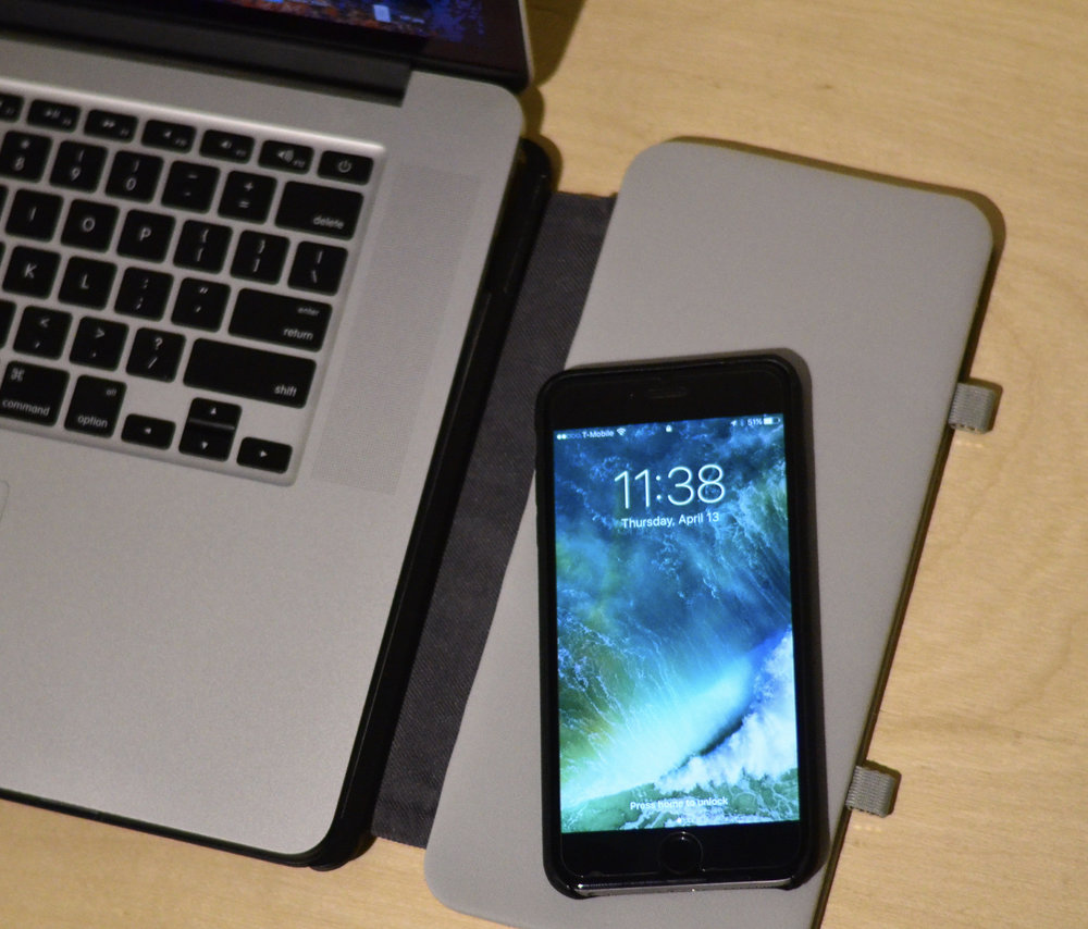 Wireless charging for compatible smartphones.