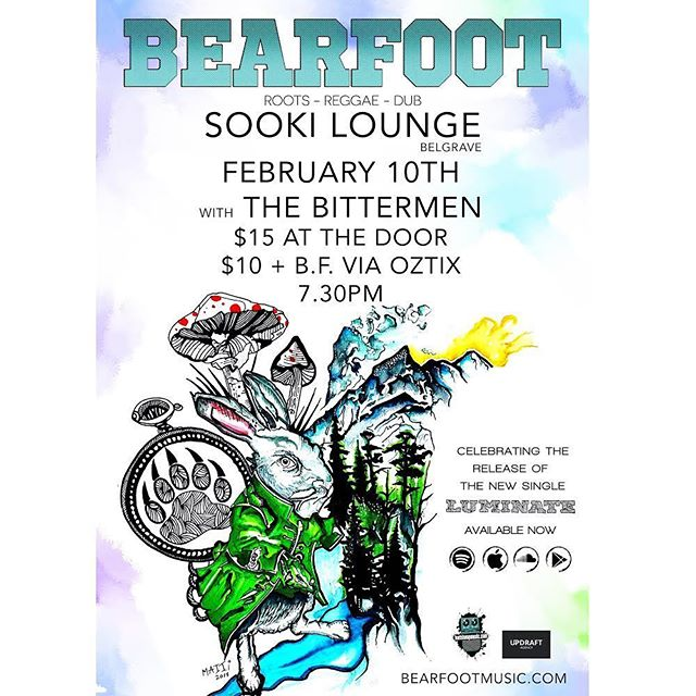 Can't wait to hit the @sookilounge stage with roots/reggae legends @bearfootmusic Sun Feb 10th!  #musicvictoria #thebittermen #bearfoot #reggae #roots #dub #blues #belgrave #sookilounge #rock