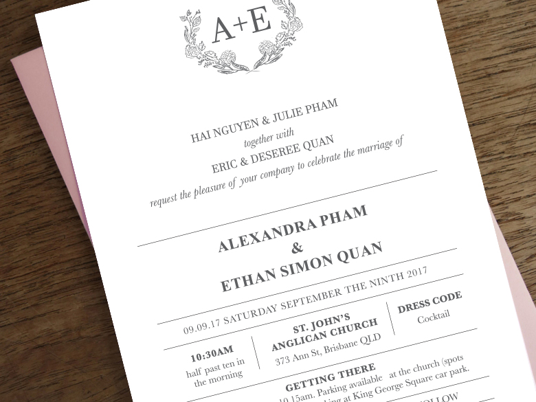 Ae wedding wedding invitations design by mii invites 3g stopboris Choice Image