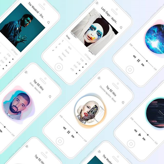 oh hot damn, this is my jam! What's popping on my Music App player? #dailyuichallenge #musicplayer #appdesign #uxui #uidesign #collectui #inspirationui