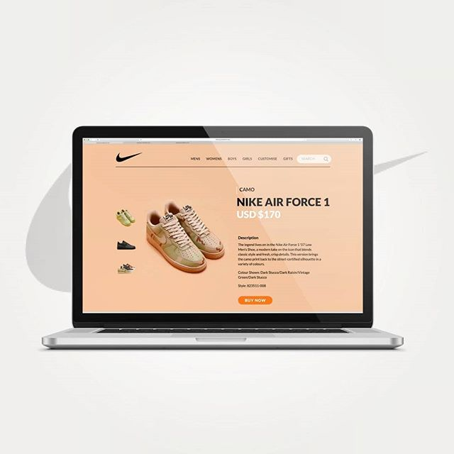e-commerce item page #day012 #dailyui #uidesign #uxdesign #nike #ecommerce #webdesign #collectui #graphicdesign