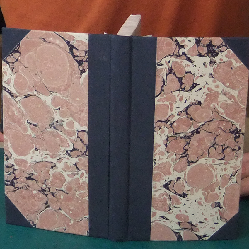 Bookbinding II: A Bradel Binding in 1/2 cloth.