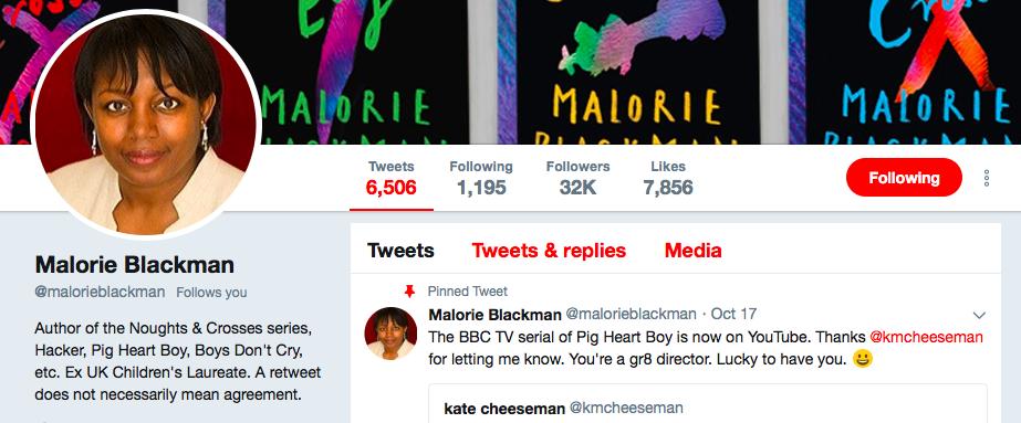 Calorie Blackman on Twitter