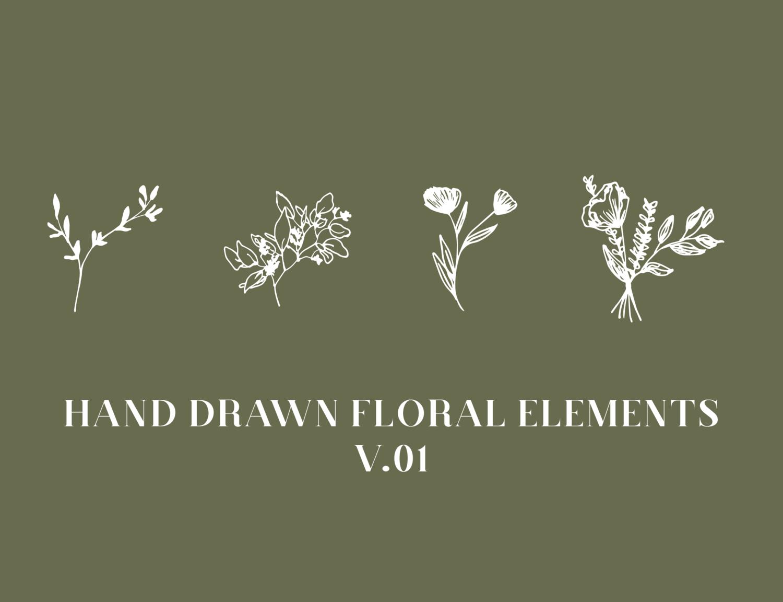 Hand Drawn Floral Elements V 01 Viviane Lenders