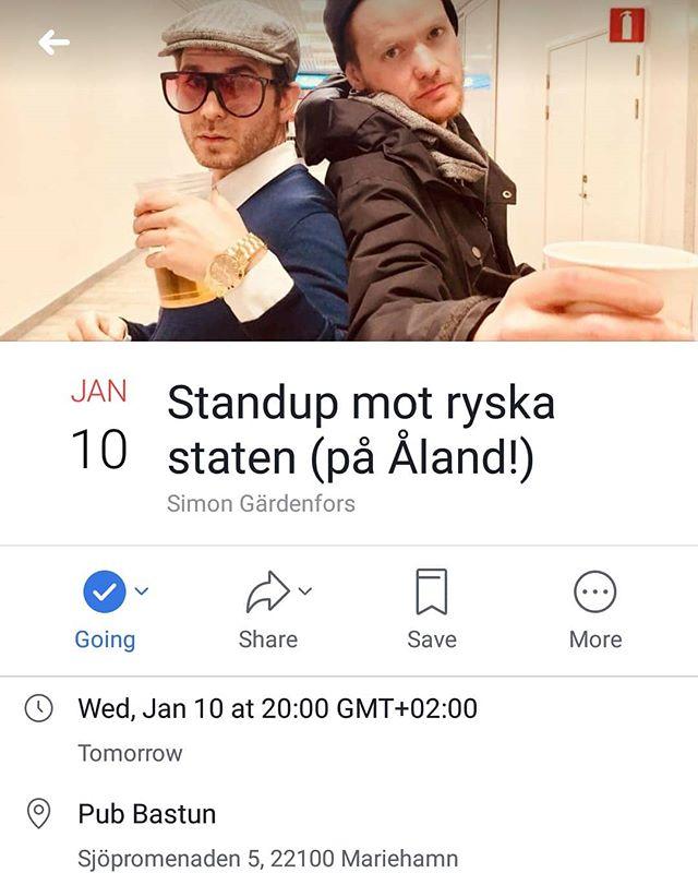 Imorgon får Bastun besök av några av Sveriges bästa (och mest kontroversiella) komiker!! 16 års åldersgräns  CASH ONLY  FÖFKÖPSLÄNK I FB-EVENTET