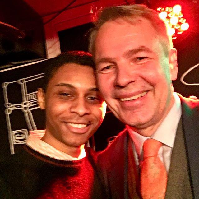 Ordförande lyckades få sig en selfie med självaste Haavisto! ✨⚡️#pekkahaavisto
