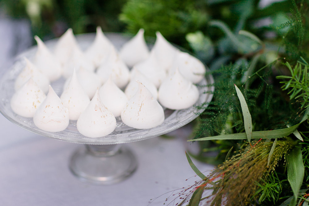 White & Gold Dust Meringues
