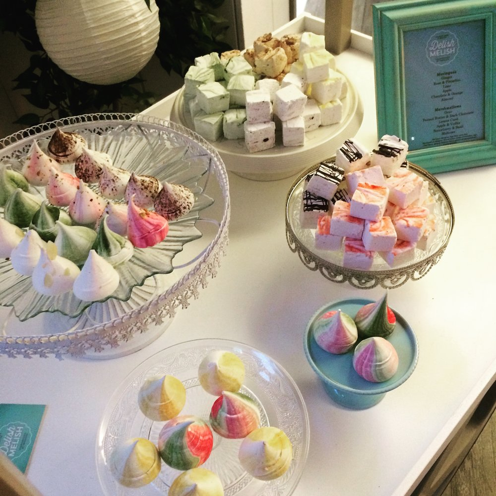Marshmallows, meringues, party food, Dublin treats