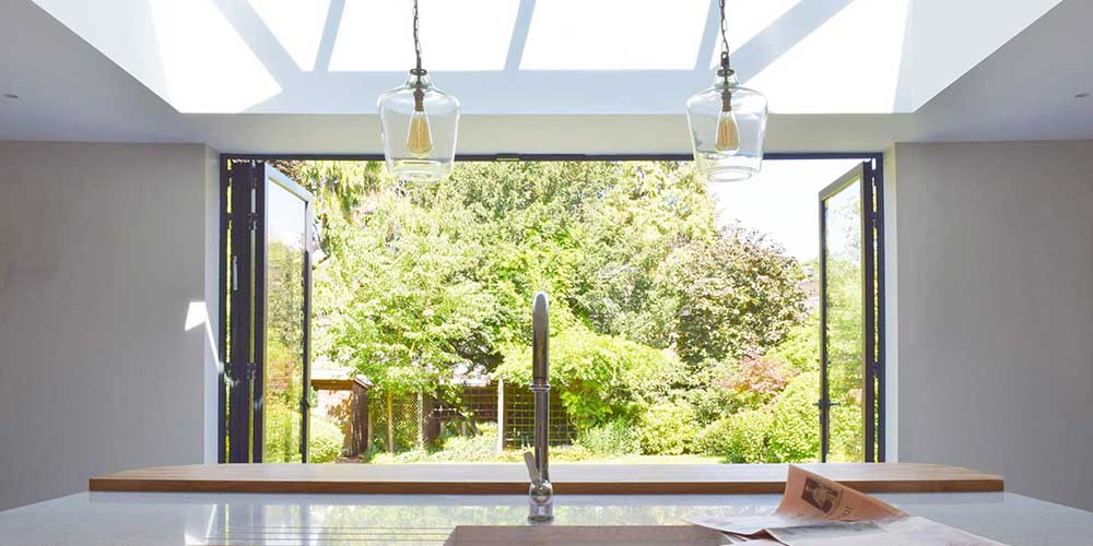 Studio Werc Rear Extension for an Open Plan Kitchen - maximising the view of the rear garden.