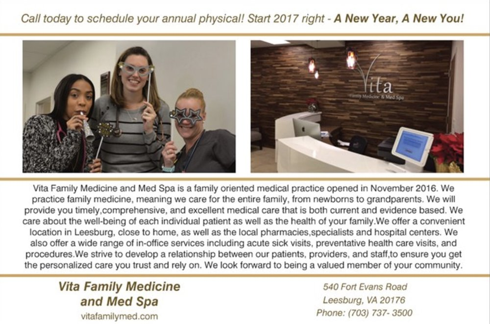 Annual Physicals at Vita Family Medicine in Leesburg, Virginia