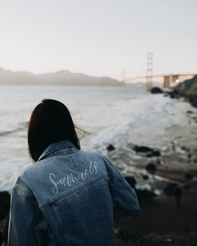 Way back when a bride gifted her bridesmaids with personalized jean jackets. The best thing is the bridesmaids not only looked BA the day of, but can still wear them today and look just as cool. Not making these jackets a regular thing, but love the idea for all you brides out there!