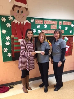 Timber Drive Elementary School received the 5K school support check for $992.27.  Congratulations!