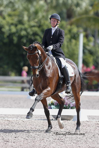 Diane Creech and Diana C earlier this year at the Adequan Global Dressage Festival. Photo by Susan Stickle.