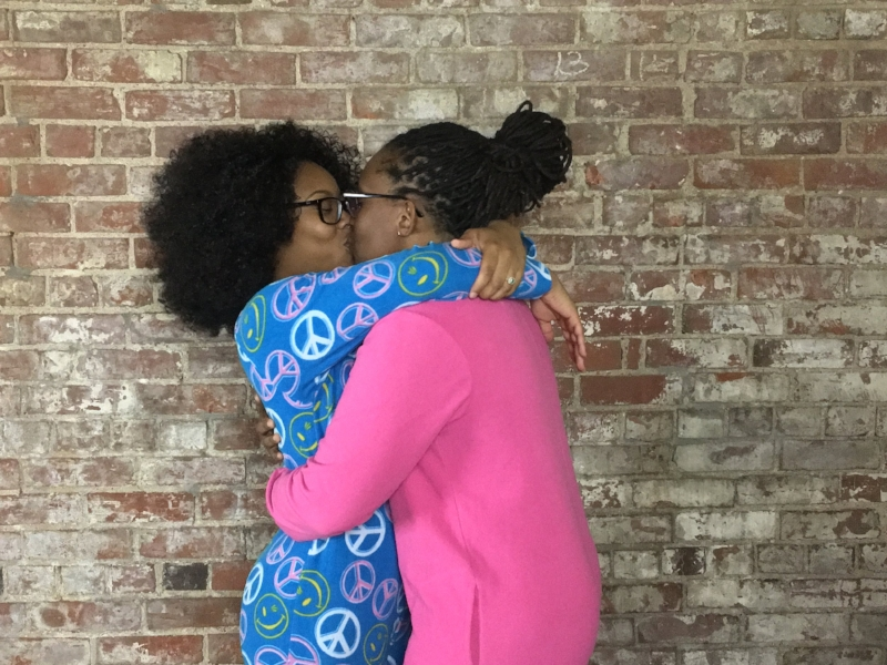 TWENTYSOMETHING BLACK LESBIAN COUPLE