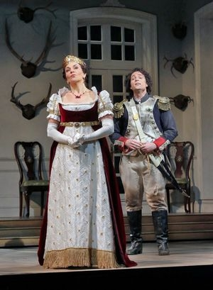 """Daughter of the Regiment,"" The Santa Fe Opera 2015, Costume Designer Allan Moyer, Draper Kjersten Lester-Moratzka, Photo taken by Ken Howard"