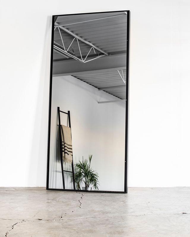 Forge 53 mirror & blanket ladder. Shot on location @onsetyeg by @paul_swanson_ 🌿  #custom #modern #picoftheday #yeg #furniture #decor #homeinspo #minimal