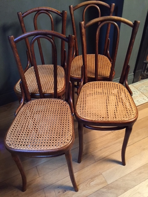Antique Thonet Chairs Set Of 4 C.1900