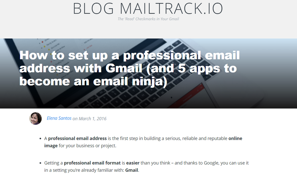 Editing and ES>EN translation of marketing content for MailTrack, an email tracking extension.