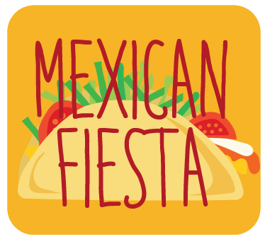 Mexican Fiesta - Build-Your-Own Tacos, Quesadillas OR NachosChoice of Cake + FrostingFruit Kabobs OR Salad SkewersChoice of Drink
