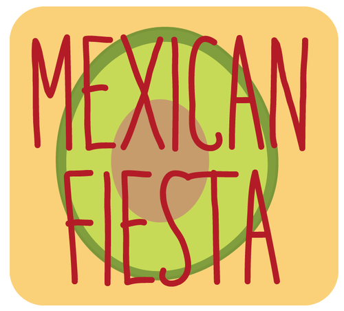 Mexican Fiesta - Build-Your-Own Tacos OR Quesadillas (with Handmade Tortillas)Chips & GuacChoice of Cake + FrostingFruit Kabobs OR Salad SkewersChoice of Drink