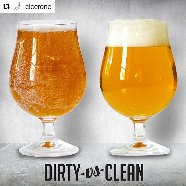 #Repost @cicerone (@get_repost) ・・・ Who has had a beer served in a glass like the one on the left? Yuck! #craftbeer #beercleanglass #cicerone #BeerSommelier #beersommlife #beersommeliers #ciceronelife