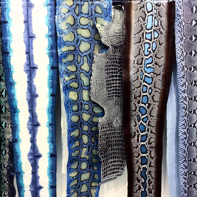 Tannery in Milan #lineapelle  #blue  #python #snakeskin #alligator #thedesignguy #7thandspring #design #architecture #photography #atl #mysuperfilteredlife #praylovehustle  #leather #designer