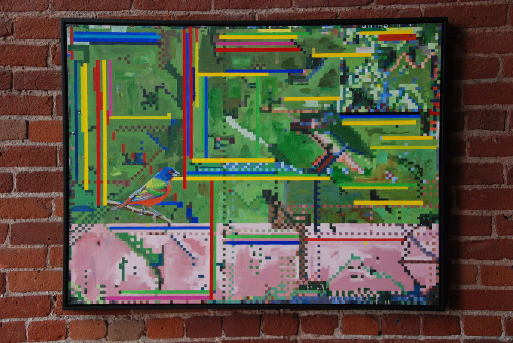 "Prairie=Parrot, 30""x40"" oil on canvas, 2015"