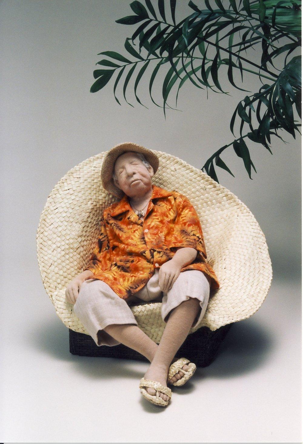 椰子の木陰