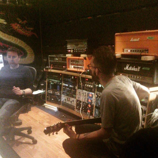 @sebastien_favre in tracking guitars with @darrengrahn. @psheps assisting.