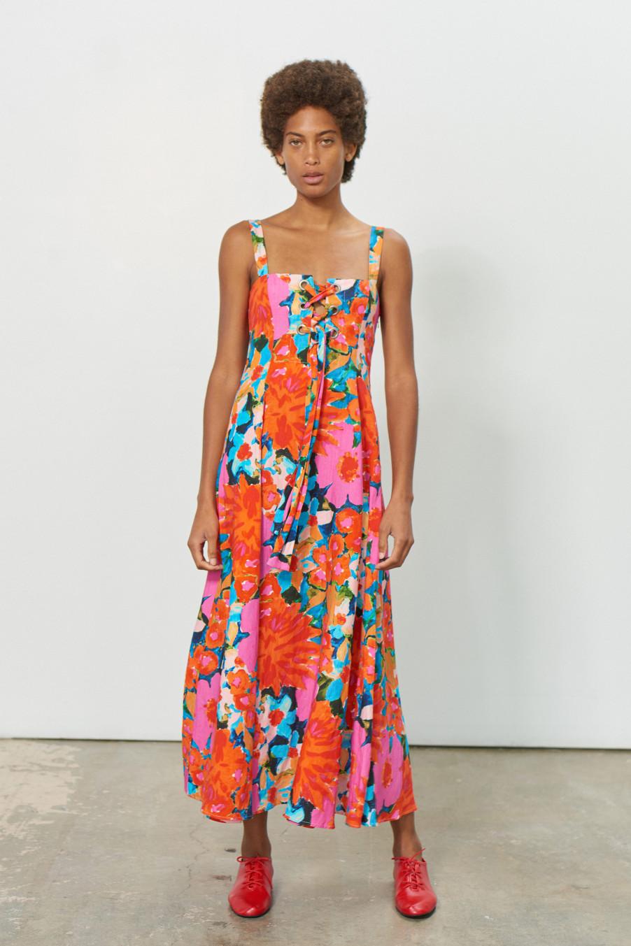 Eco-Friendly Floral Dress Spring Mara Hoffman