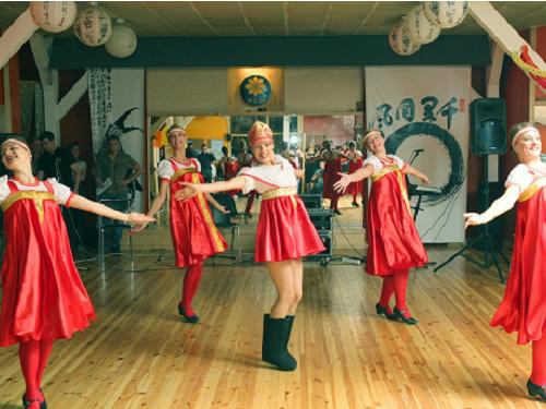 Scenic folk dance