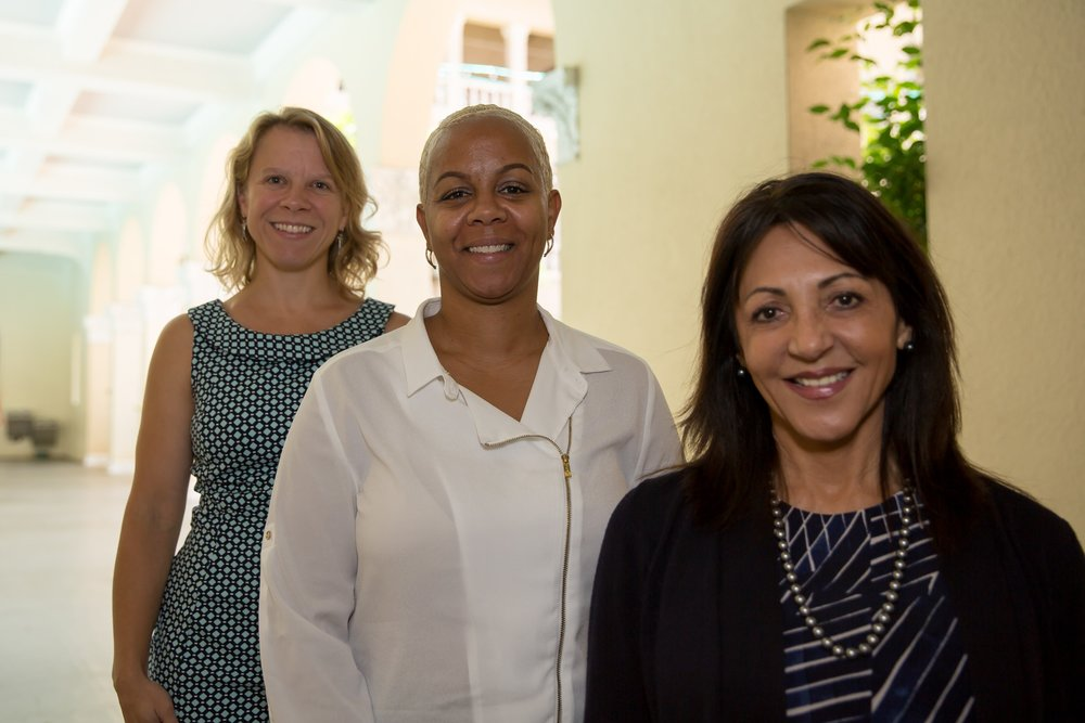 Patsy T. Mink Leadership Alliance Cohort 2 members (from left to right:) Eileen Zorc, Partner, Marr Jones & Wang; Sonya Gomes, Assistant Vice President & Deposit Operations Manager, Central Pacific Bank; and Phyllis Freitas, Director of Business Sales, Hawaiian Telcom.