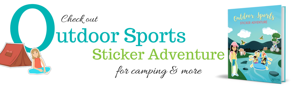 Outdoor Sports Sticker Adventure - Camping