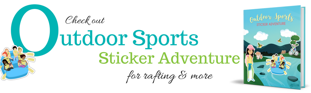 Outdoor Sports Sticker Adventure - Rafting.png