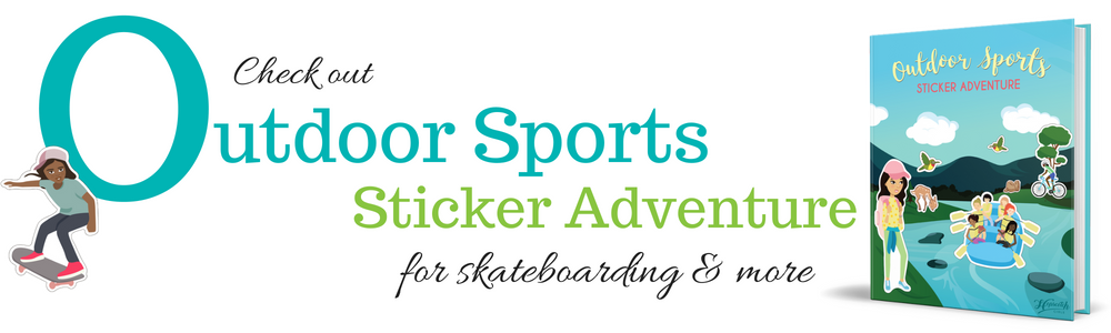 Outdoor Sports Sticker Adventure - Skateboarding.png