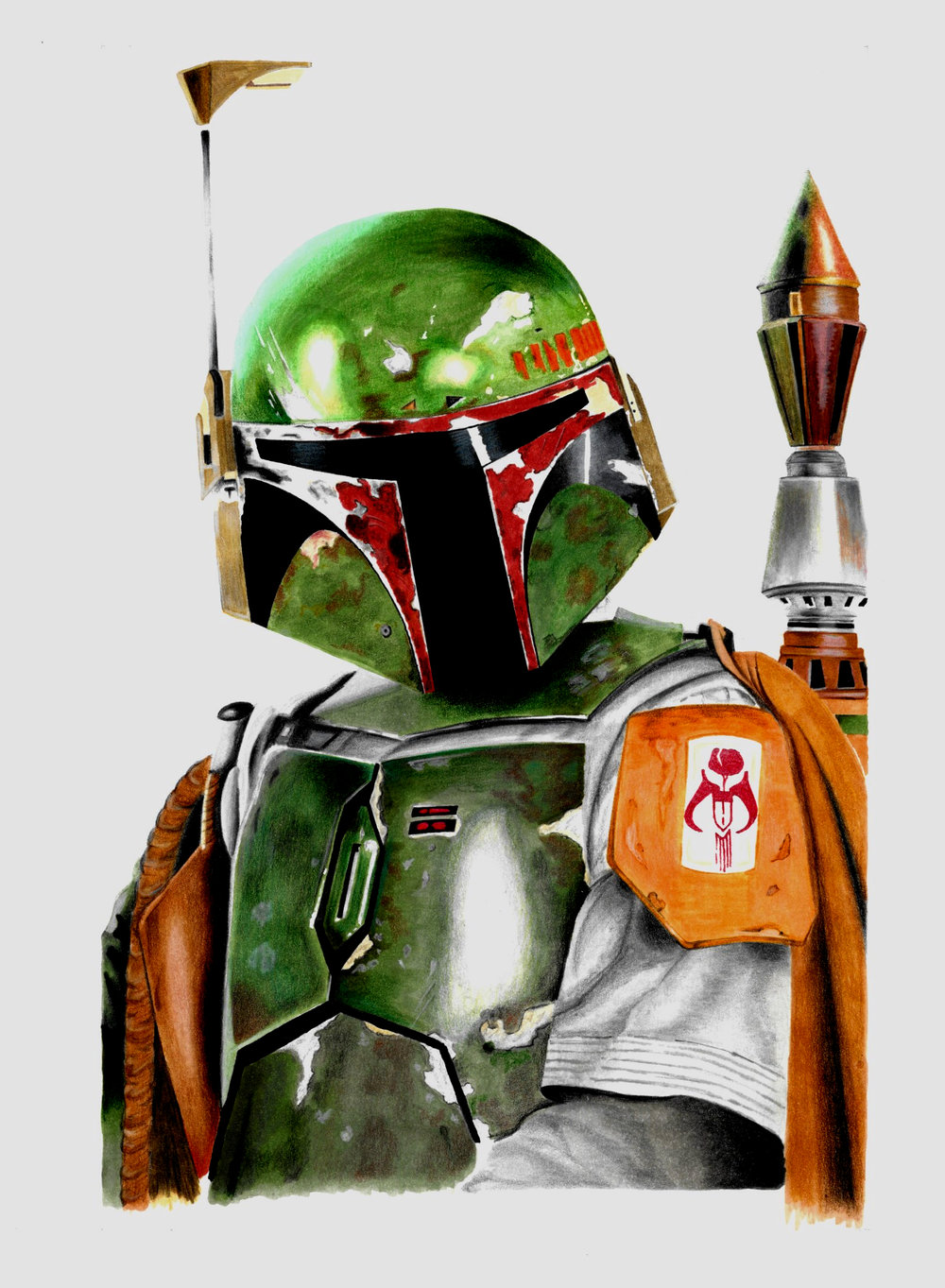 Boba Fett Scanned Final Image
