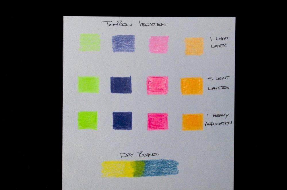 TomBow Irojiten Colored Pencil Test