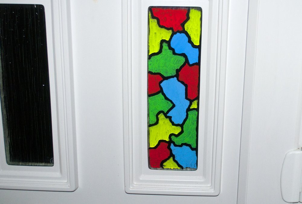 Front Door Stain Glassed Markers