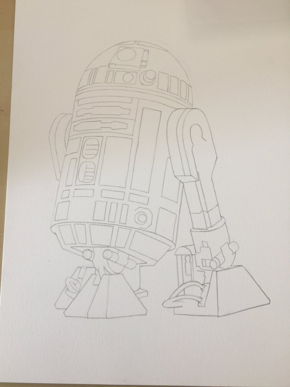 R2-D2 General Sketch Outline