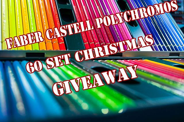 As way of thanking everyone for their support over the year or so I've been doing reviews, I am giving away a brand new 60 set of @fabercastellglobal #polychromos copy and paste the link to find out how to win these awesome pencils http://bit.ly/2hhD2XM the video explains everything and best of luck to the winner whoever he or she may be.