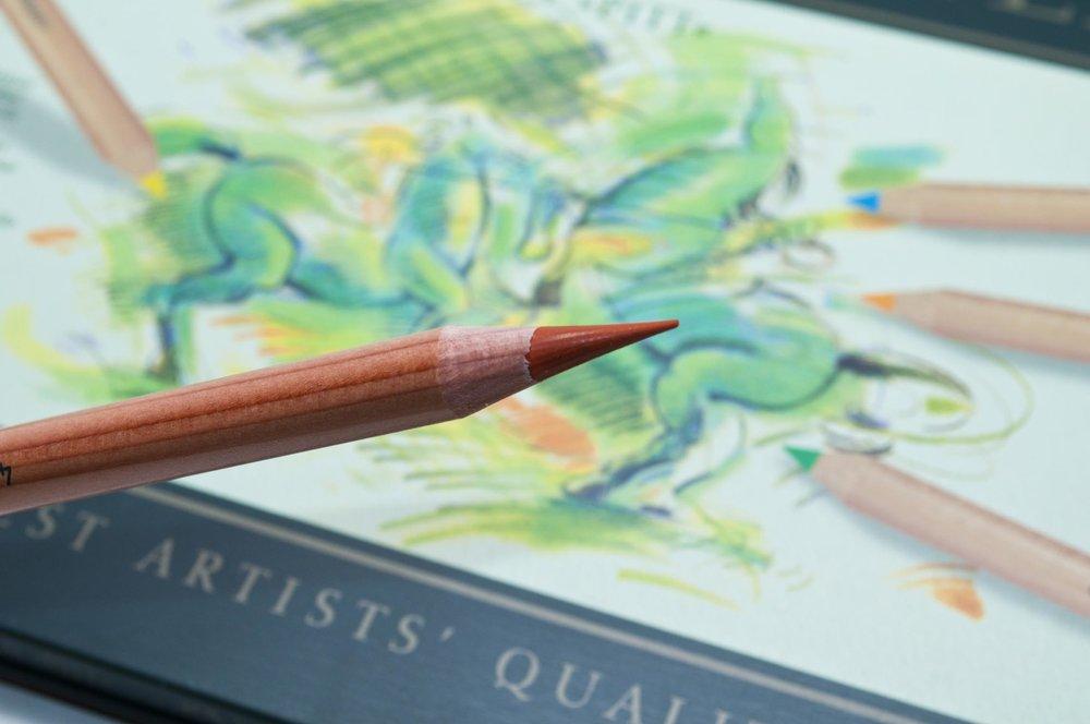 Faber Castell Pitt Pastel Sharpened With Mechanical Sharpener