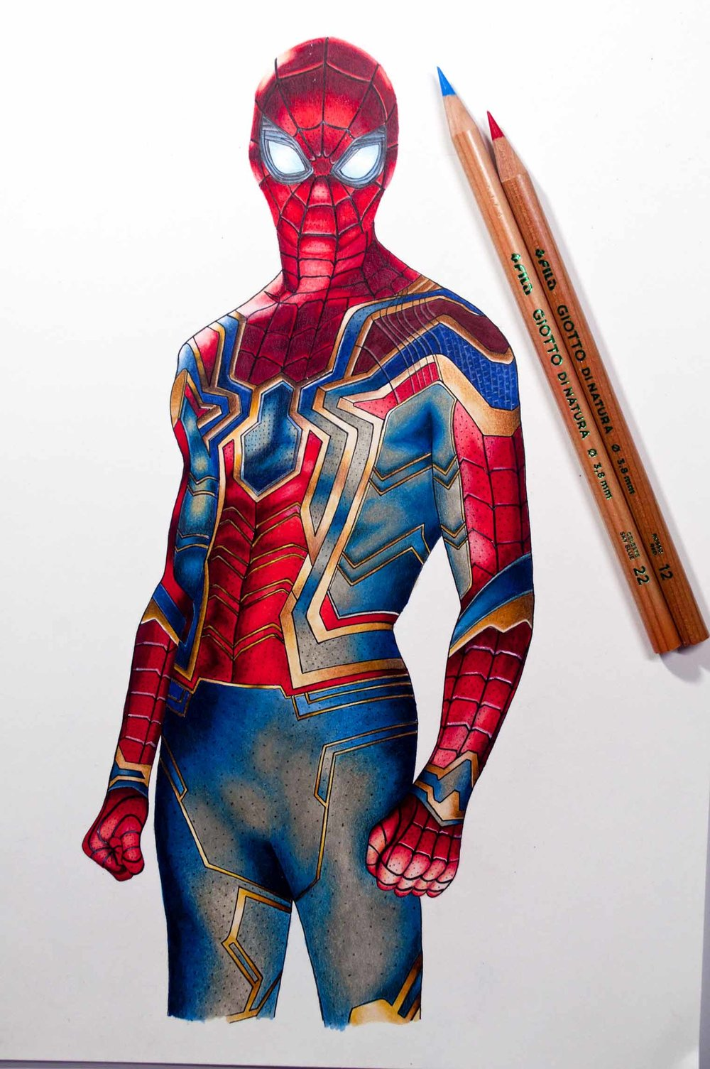 Giotto di natura spiderman drawing