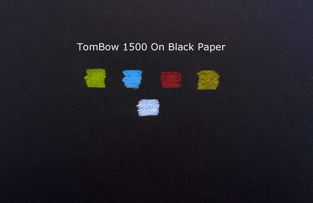 Tombow 1500 on Black Paper.jpg