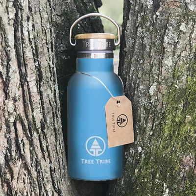 hidden collective - tree tribe insulated water bottle