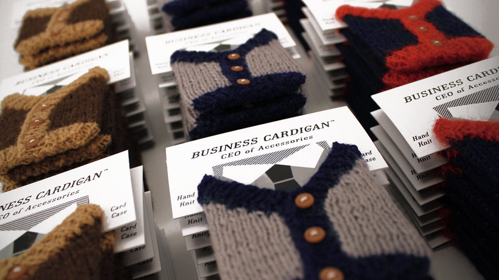 Business Cardigans // PRODUCT DESIGN — Good Vibes + Good Ideas