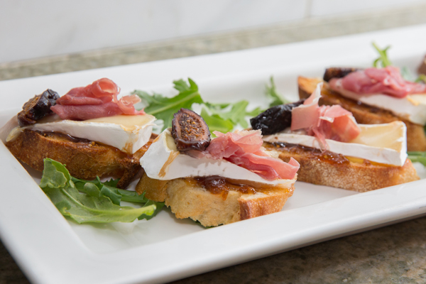 Fig, Brie and Brie crostini