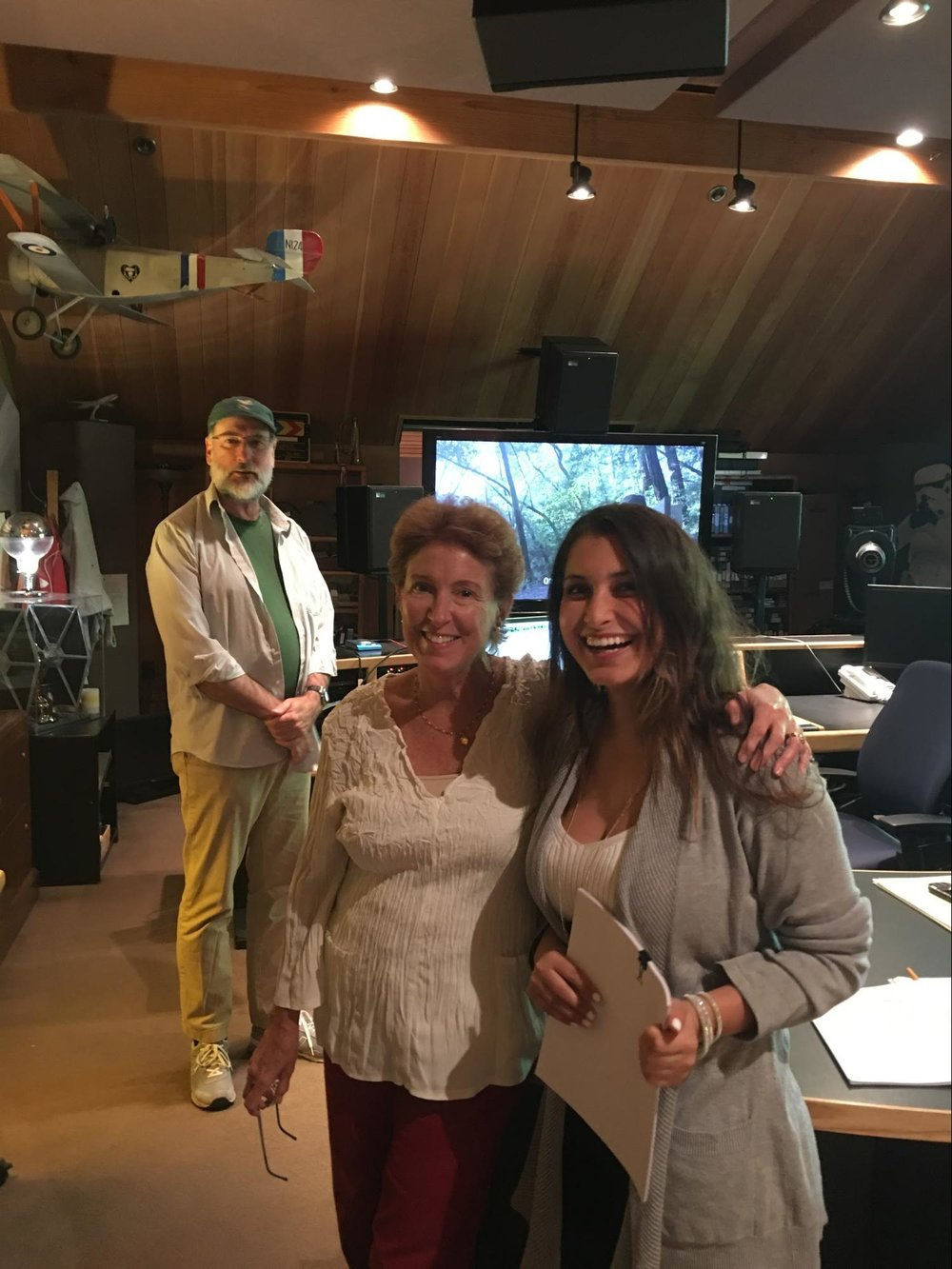 Larry Oatfield, Laurel Ladevich, Jacqueline Monetta at Skywalker Sound